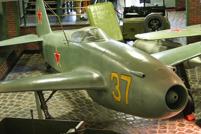 File:Yakolev Yak-15 37 yellow (8454539446).jpg