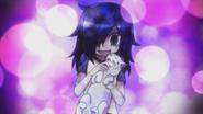 Tomoko and a cat