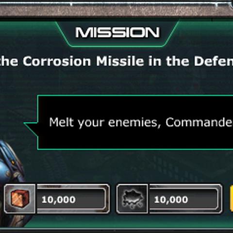 Mission: Unlock Corrosion Missile - Complete