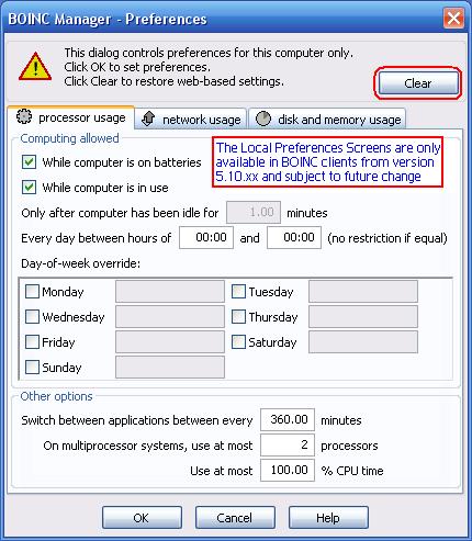 Bm processor prefs