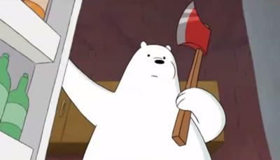 Everyday Bears Ice Bear with an Axe