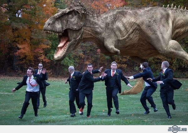 Wedding-T-Rex