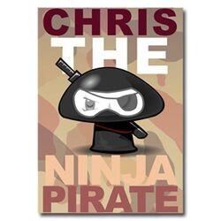 Chris the Ninja Pirate Poster