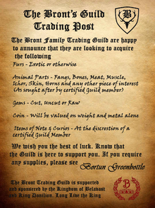 Bront Guild Trading Post Poster