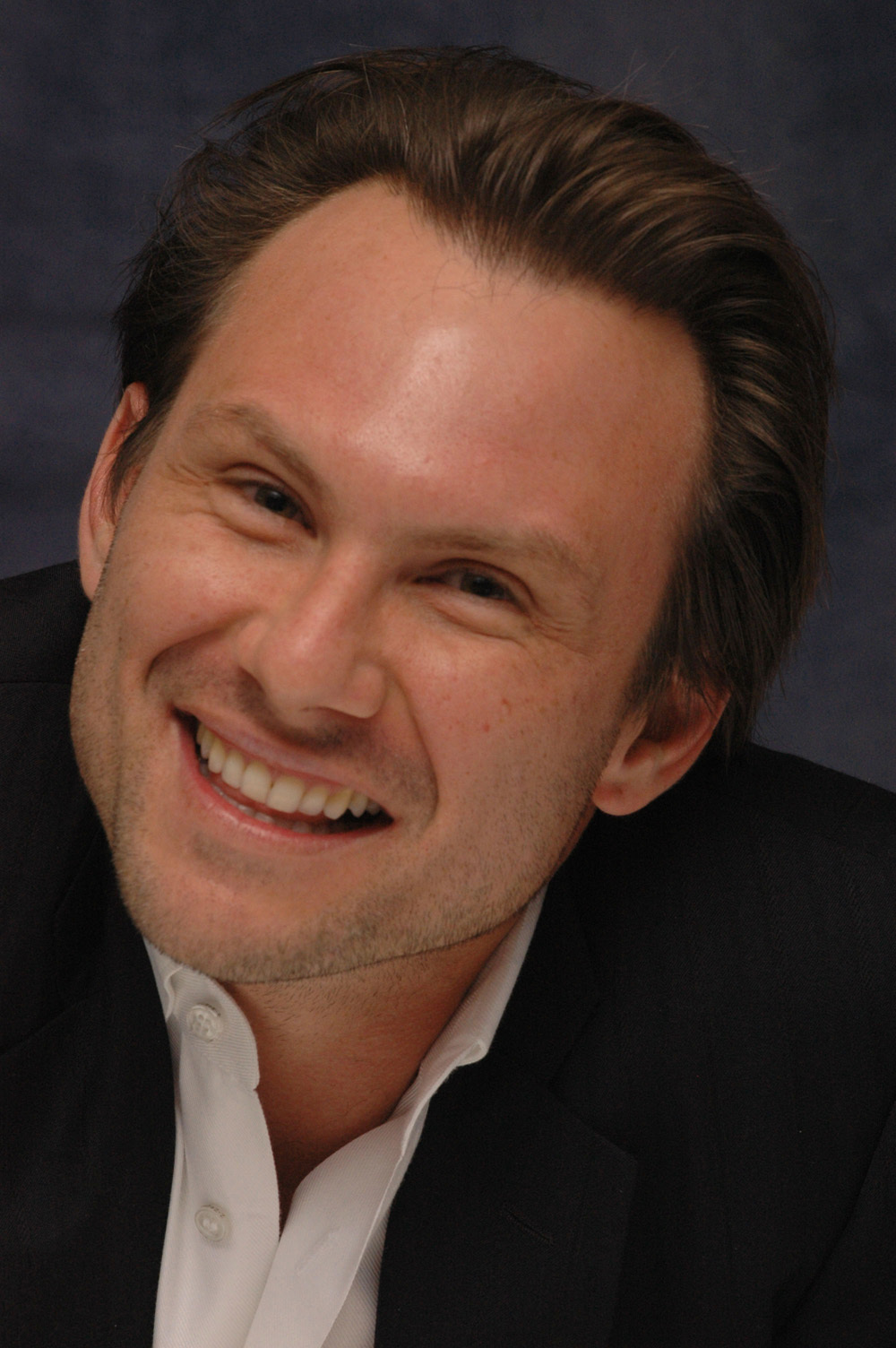 Christian Slater  - 2018 Regular brown hair & chic hair style.