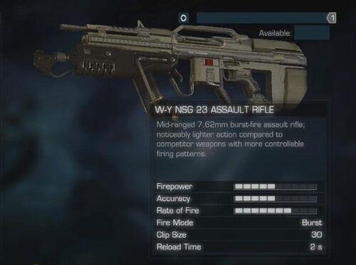 NSG 23 Assault Rifle