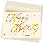 Free happy birthday greeting card simple design-1
