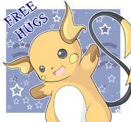 PKMN Free Hugs 4 Raichu by GogetaJr