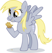 Derpy hooves eating muffin by ininko-d53o4zo