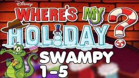 Where's My Holiday? - Level 1-5 - Swampy Walkthrough