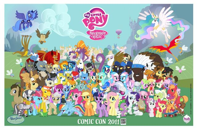 File:My Little Pony Friendship is Magic Comic Con 2011 poster.jpg