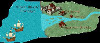 Delta Pontaru na Mapie Orteliusa