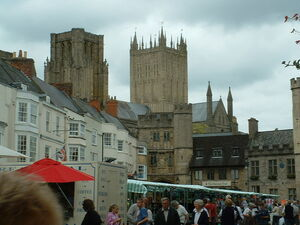 Wells Cathedral and market square.jpg
