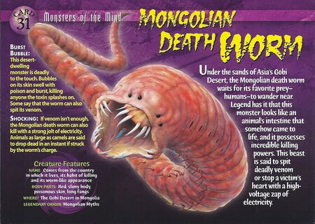 Mongolian Death Worm front