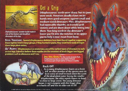 Dilophosaurus back