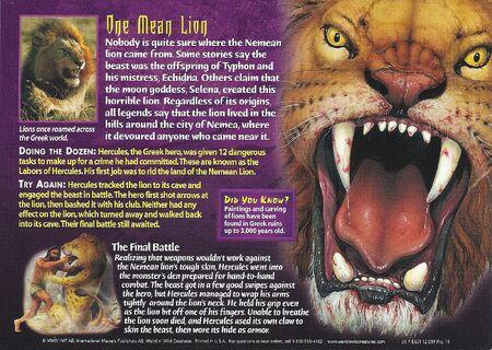 Nemean Lion back