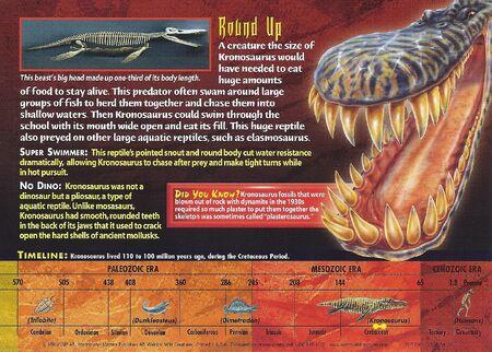 Kronosaurus back