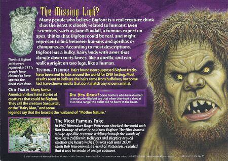 Bigfoot back