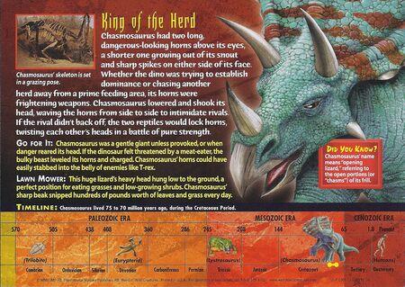 Chasmosaurus back