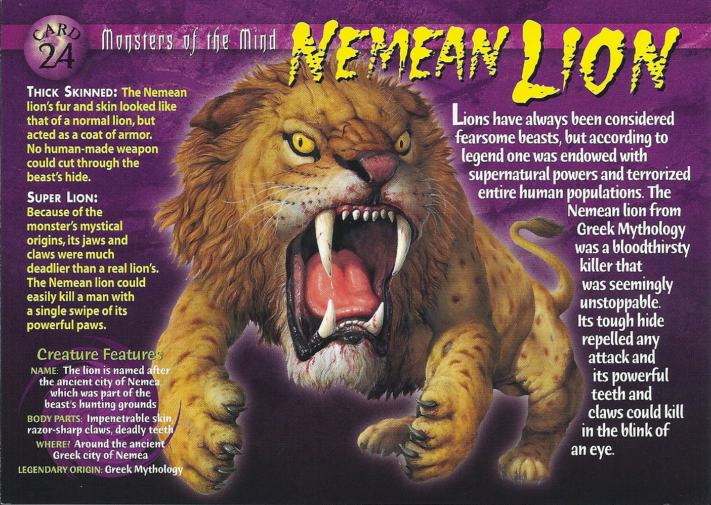 Nemean Lion   Wierd N'wild Creatures Wiki   FANDOM powered by Wikia