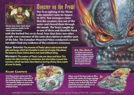 Thetis Lake Monster back