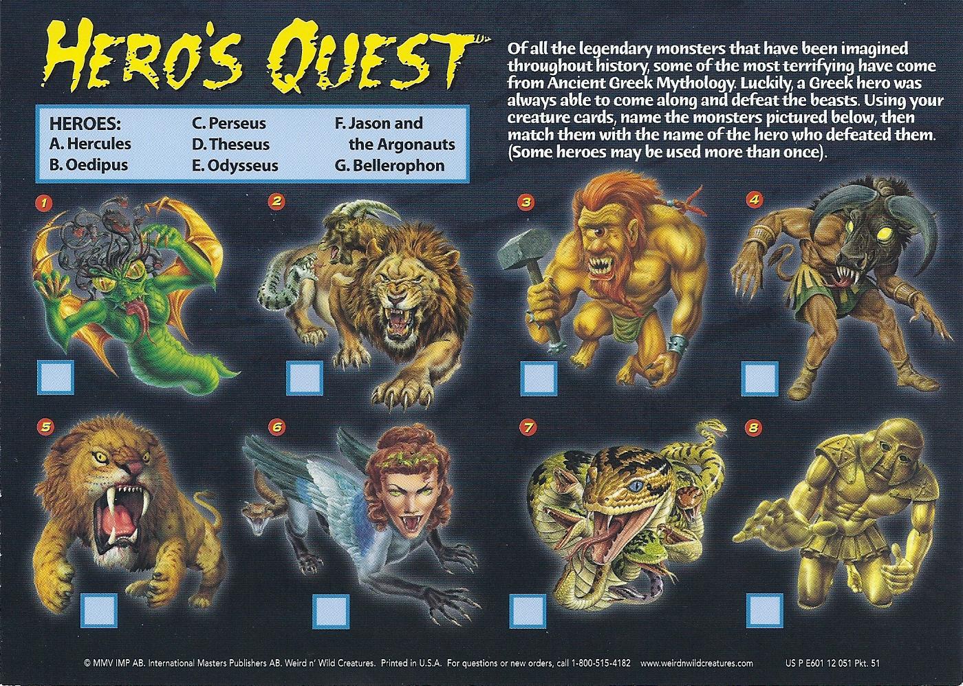 image monster mania 52b jpg wierd n u0027wild creatures wiki