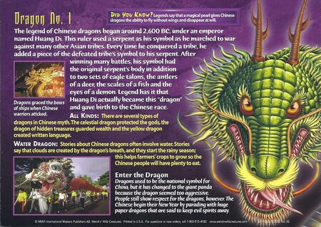 Chinese Dragons back