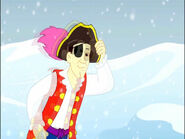 CartoonCaptainFeatherswordattheNorthPole