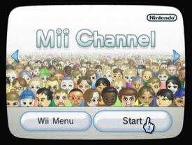 Mii channel menu