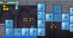 NSMB Wii Giant Ice Blocks