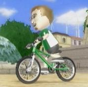 Mii on a bike