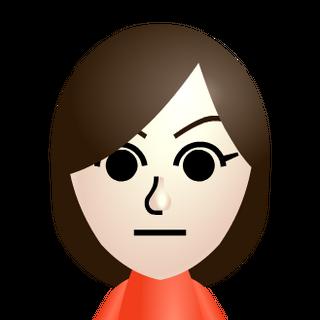 The default female Mii.