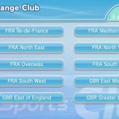 The clubs' menu