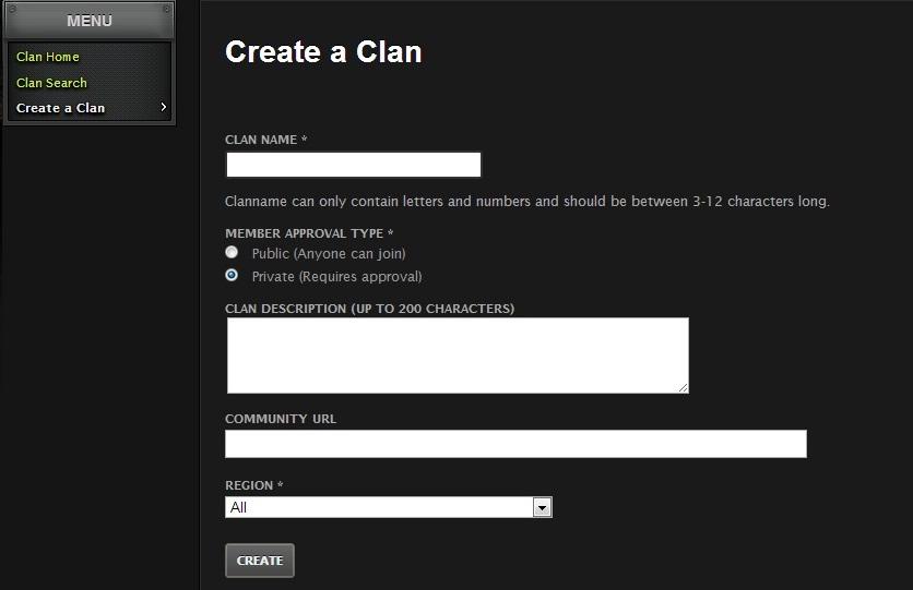 Clan create