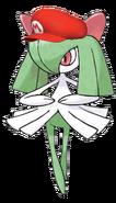 Kirlia in Nintendo clothes