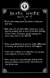 Deathnote-rules