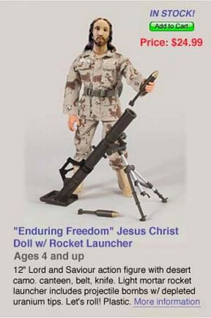 Freedom jesus warrior