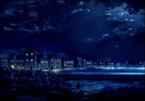 File:Exelica Story Mode Prologue - Coastal Town.png