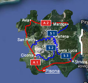 Transportation map of Juliana