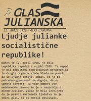 Glas Julianska 12april 1976