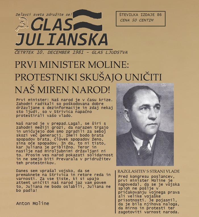 Glas Julianska Dec 1981 P1