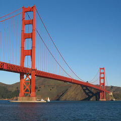 <b>Golden Gate Bridge</b>, one of the bridges destroyed by <a href=