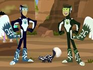 P.U. and Kratt Bros in Skunk Power Suits