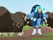 Martin with the Muskoxen and Kid Musky
