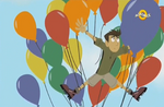 Chris Tangled up in Balloons