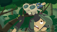Martin trying to get Binoculars