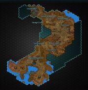 Crimson Badlands map