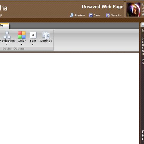 Popfly Web Page creator.