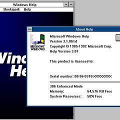 Windows 3.0 MME Help program.