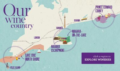 Ontario Wine Map